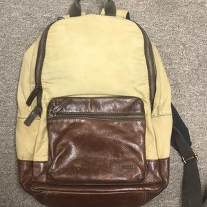 Leather Fossil Backpack